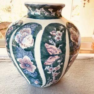 Vintage butterfly porcelain vase